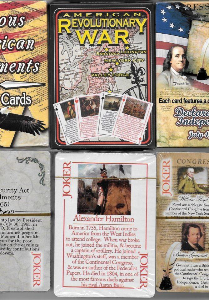 3 card decks