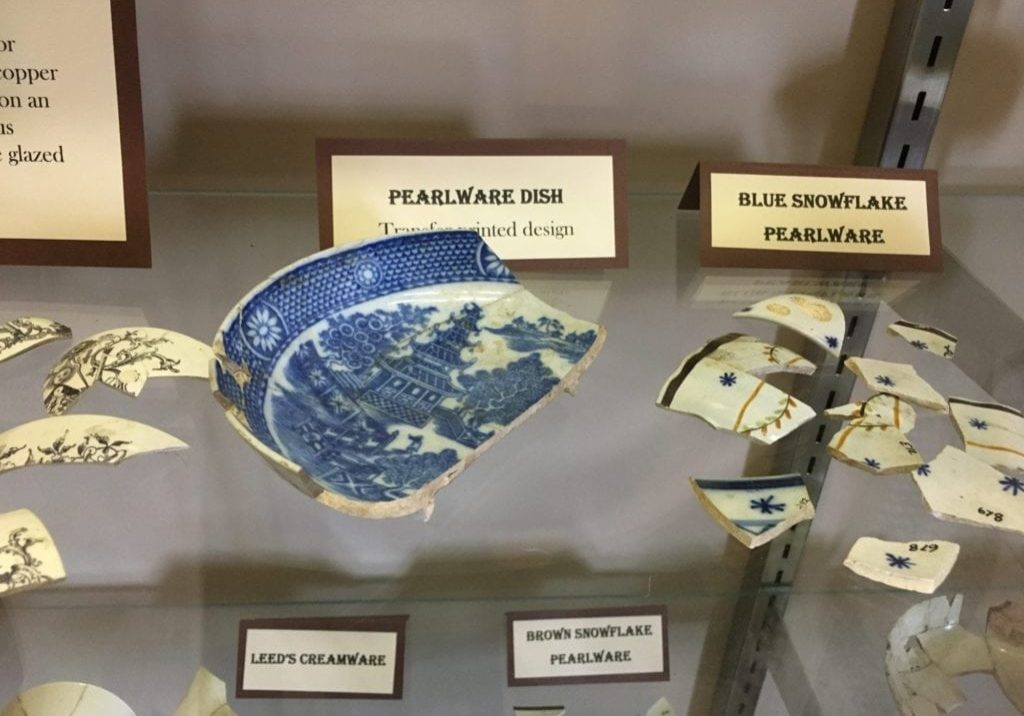 Pearlware artifacts